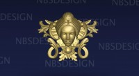 Center - Decor - woman face<br />Versions - OBJ/RLF/STL
