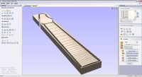 teste neck - firgerboard cylindrical radius whit cut3d and cut2d