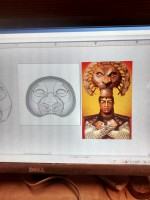 using a web image for the Mufasa mask