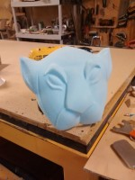 Finished lioness mask mold