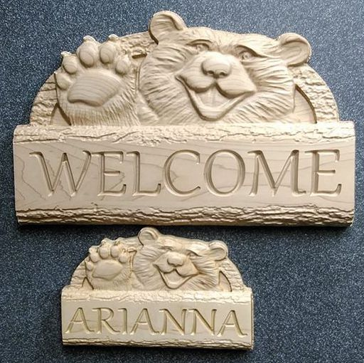 Don Harding - Bear Waving Welcome sign and Childs Door Sign.jpg