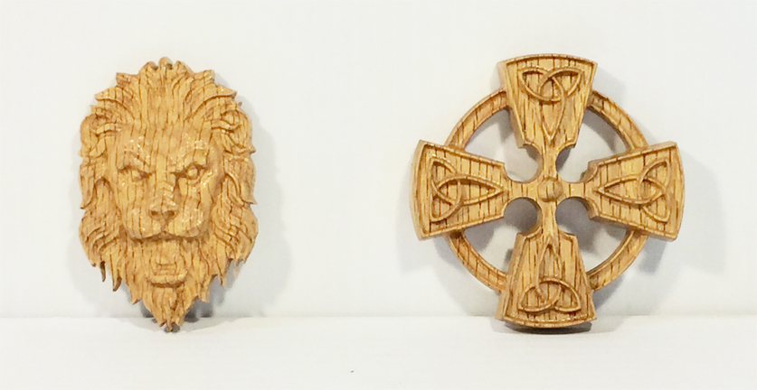 CNC MINI LION HEAD, CELTIC CROSS.jpg