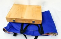 Backgammon board with carry bag