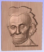 Lincoln 3D Finish of Head 1st--.125 Ballnose. Loses Hair height.JPG