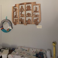 Noah's Ark hanging in our son's room.